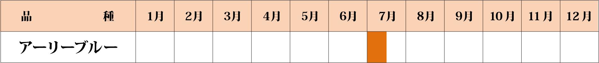 アーリーブルー カレンダー