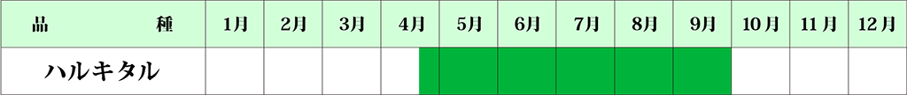 アスパラガス カレンダー