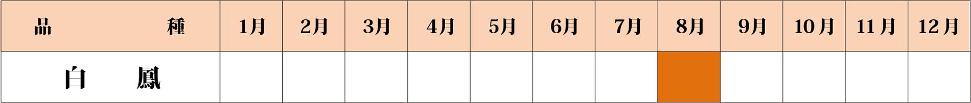 白鳳カレンダー