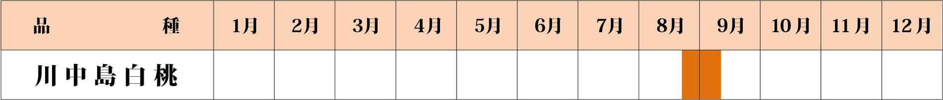 川中島泊桃カレンダー