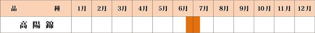 高陽錦 カレンダー