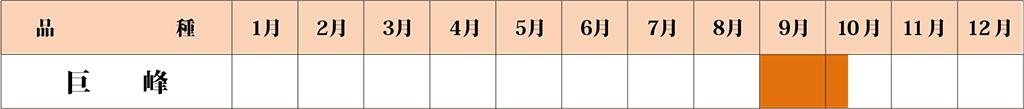 巨峰 カレンダー