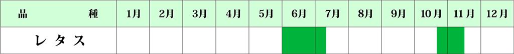 レタス カレンダー