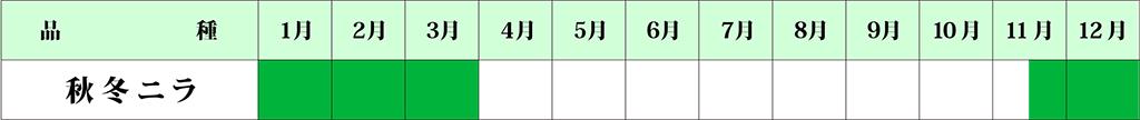 にらカレンダー