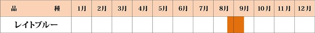 レイトブルー カレンダー