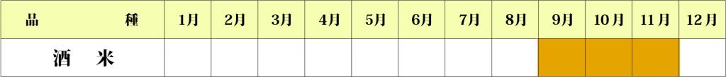 酒米カレンダー